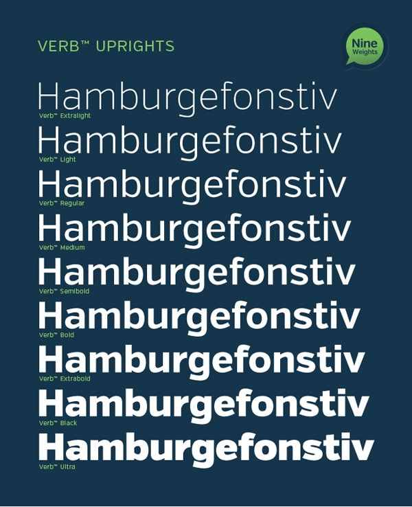 Verb Font Family with 18 Fonts
