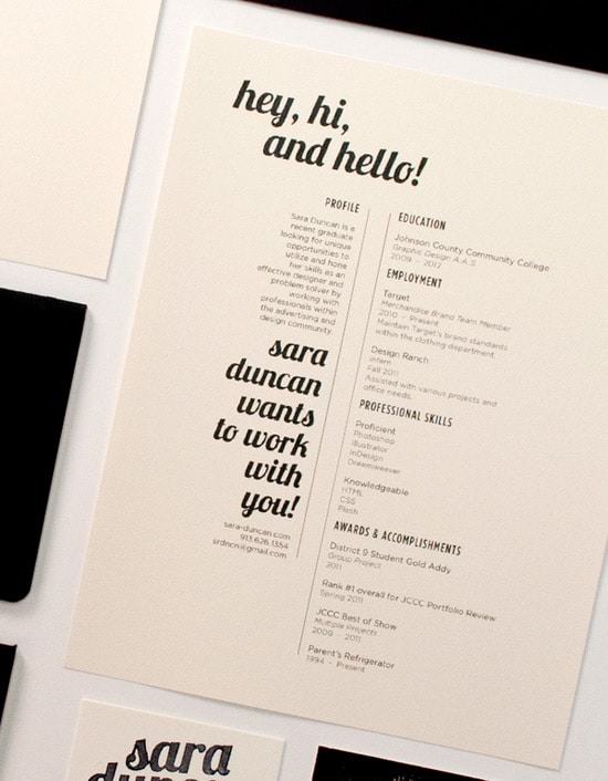 50  great examples of creative resumes