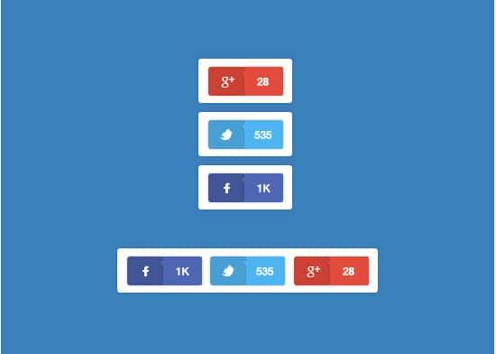 Social Media Sharing Buttons (psd)
