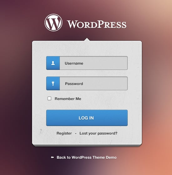 WordPress Login Freebie (psd)