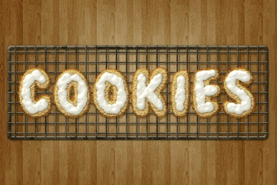 Create Delicious Cookie Text Using Photoshop