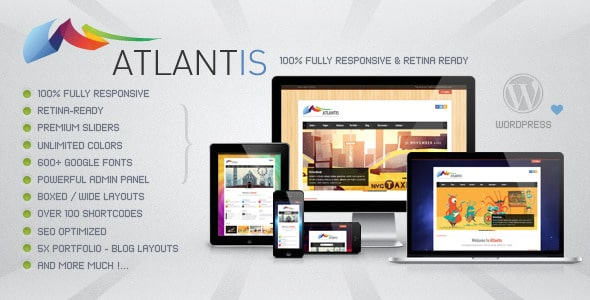 Atlantis - Responsive Retina Ready WordPress Theme
