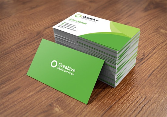 100 free business card templates designrfix free psd creative media business cards in 2 colors accmission Choice Image