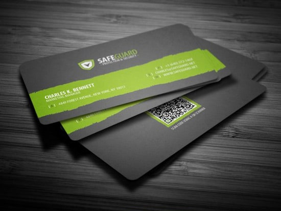 Free Rounded Corporate Business Card by ~FlowPixel