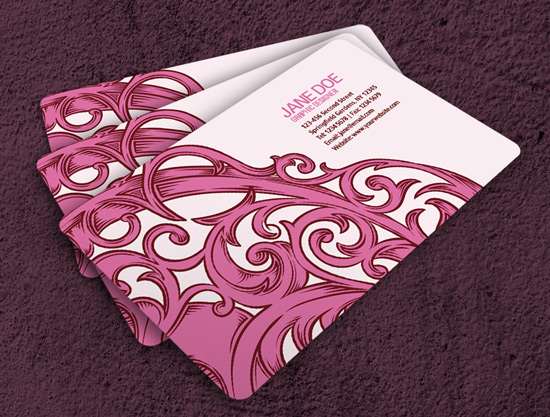 100 free business card templates designrfix nice girly business card wajeb