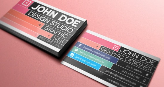 Personal Business Card Vector Graphic By Dryicons Free Colorful