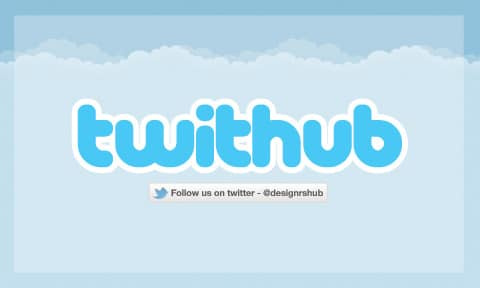 Free Cool Twitter Business Card PSD Template
