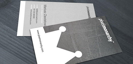 Free PSD: Simplicity Style Business Card