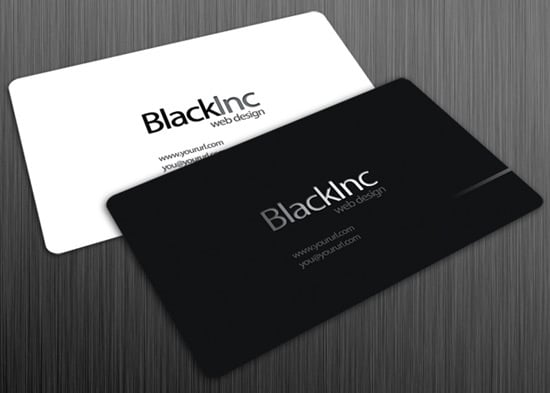 Black Inc Free Business Card Template