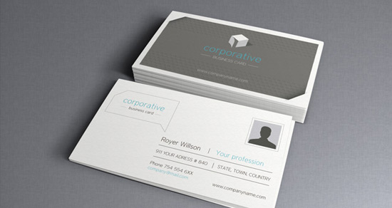 100 free business card templates designrfix corporate business card vol 2 wajeb Image collections