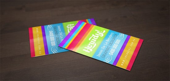 Free Bright and Colourful Business Card Template