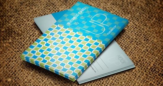 Psd Business Card Mock-Up Template