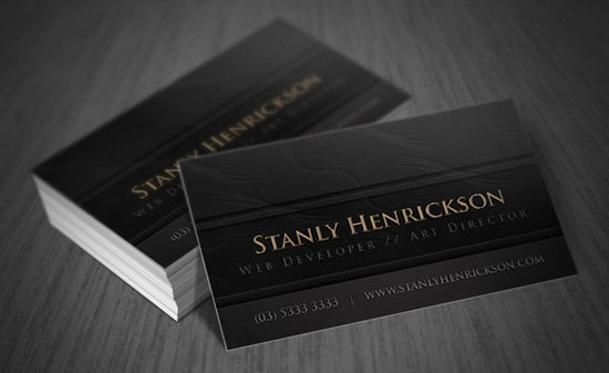 Free Black Leather Card Template