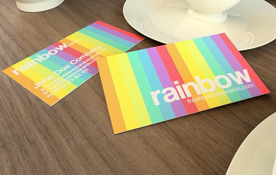 100 free business card templates designrfix rainbow business card template reheart Gallery