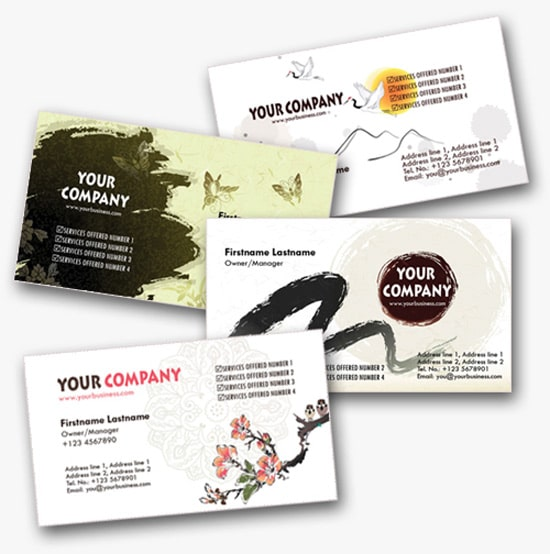 100 free business card templates designrfix 4 asian inspired personal business cards templates wajeb Images