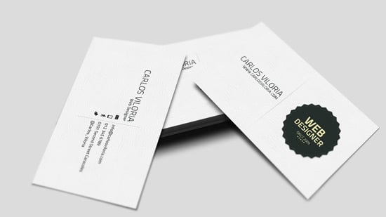 Business Card Retro Badge (Free PSD)