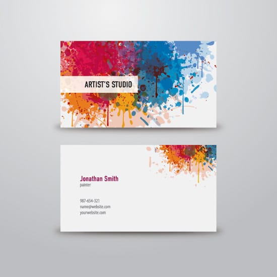 100 free business card templates designrfix artist business card accmission Image collections