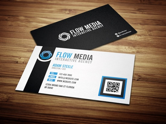 100 free business card templates designrfix free psd flow business cards in 3 colors wajeb Images