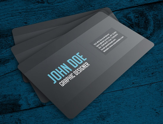 100 free business card templates designrfix simple gray business card accmission Image collections