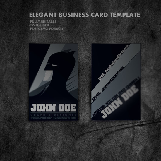 Cartoon Style Business Card