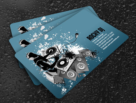 100 free business card templates designrfix cool dj business card wajeb Gallery