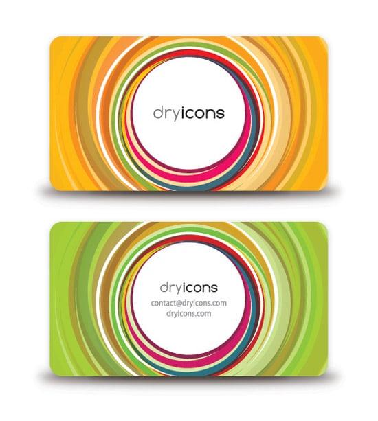 Circular Business Card