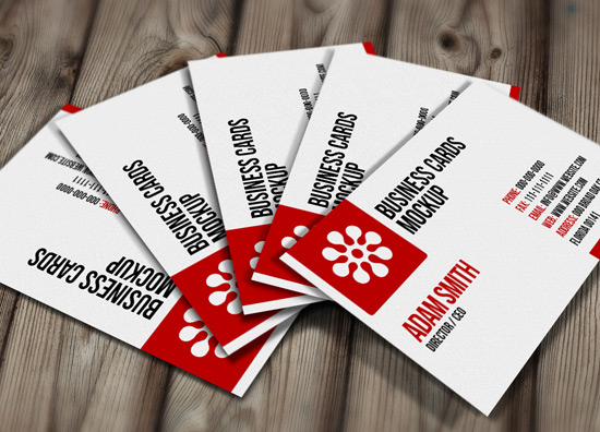 Free PSD: Business Cards Mockup