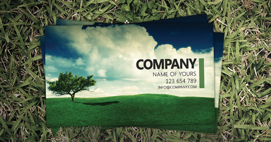 Landscape Business Card PSD