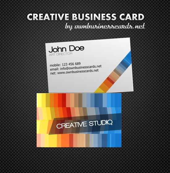 100 free business card templates designrfix creative business card template wajeb Image collections