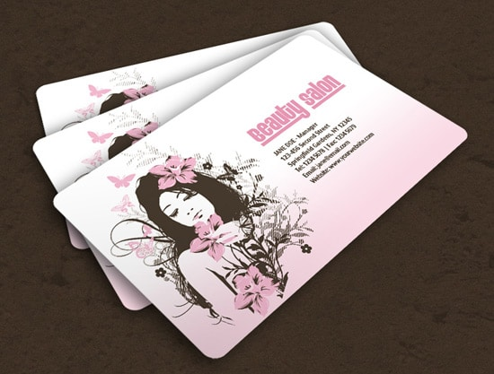 100 free business card templates designrfix salon business card colourmoves Image collections