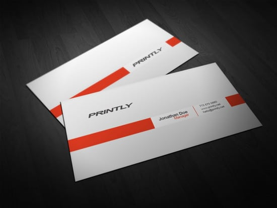 PRINTLY Free Printly Business Card Template