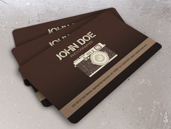 100 free business card templates designrfix vintage photography business card cute business card template cheaphphosting Gallery