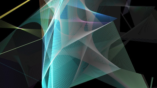 Glazing ribbon screensaver effect in HTML5 canvas