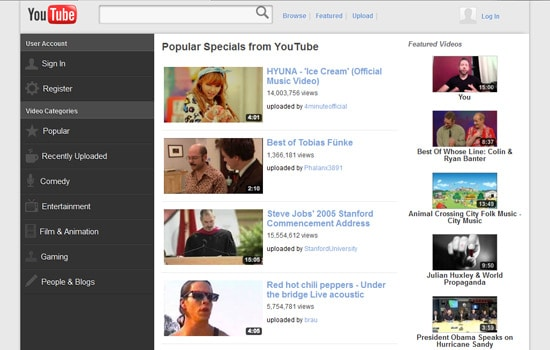 Redesigning A Responsive Youtube With HTML5/CSS3