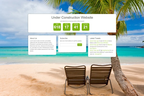 Responsive Coming Soon HTML5 Page Tutorial