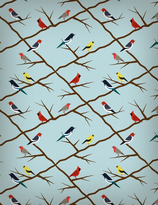 Create A Seamless Birds Pattern And Give It A Retro Touch