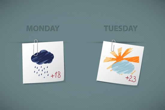 Quick Tip: How to Create Sketchy Weather Icons in Illustrator