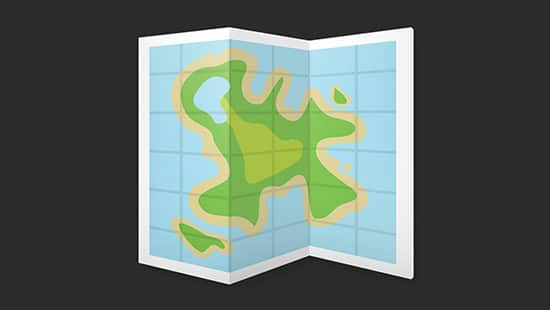 Create a Folded Island Map Icon in Illustrator and Photoshop