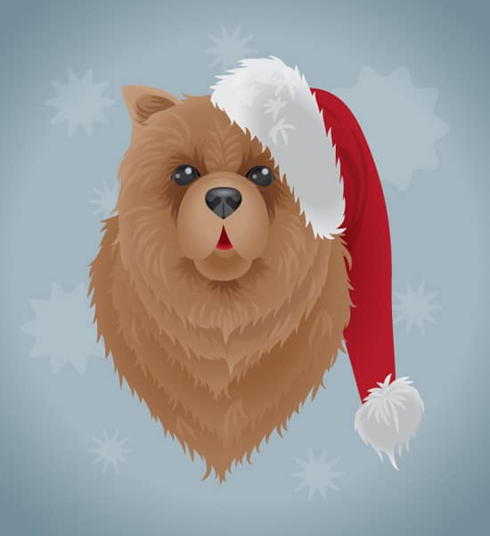 How to Create a Festive Dog Illustration in Adobe Illustrator