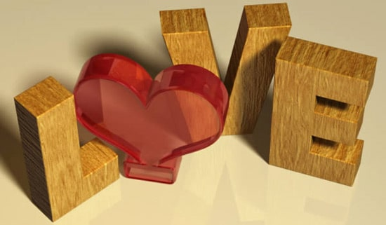 Create a Valentine's Day-Inspired 3D Text Effect