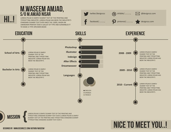 Creating a Designer's Resume in Photoshop
