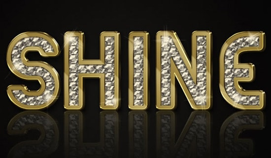 Create a Sparkling Diamond and Gold Text Effect