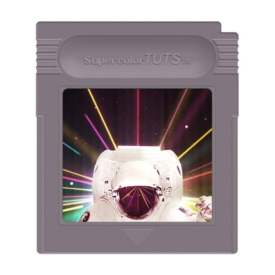 Create a Nintendo Gameboy Cartridge in Photoshop