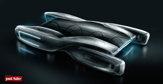 Create a Futuristic Concept Car in Photoshop