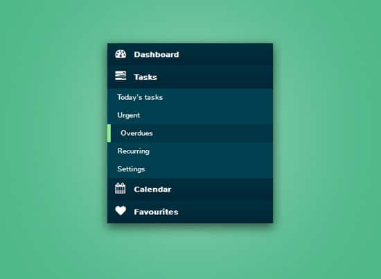 Vertical accordion menu using jQuery and CSS3