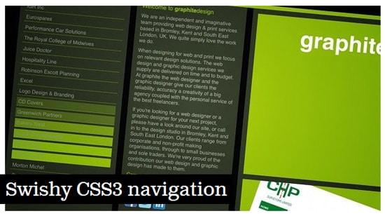 Swishy CSS3 navigation