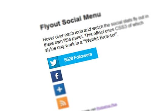 Learn How To Create a CSS3 Animated Fly-out Social Menu