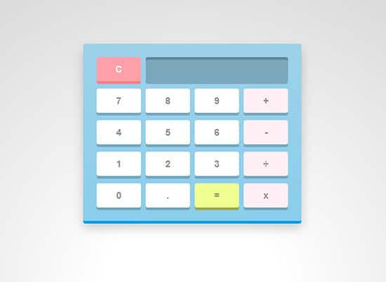 Make a calculator using Javascript and CSS3