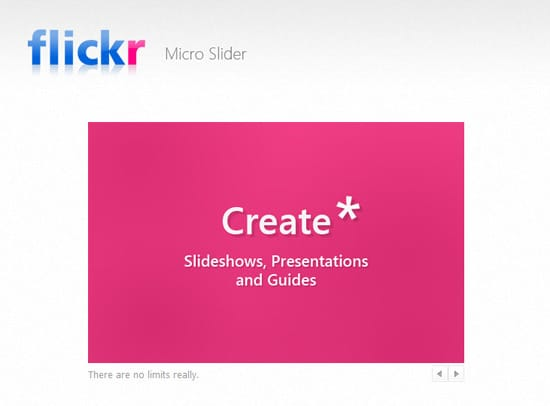 Making a Flickr-powered Slideshow