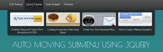 Auto Moving Submenu Using jQuery